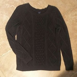 Gap cotton cable knit sweater xs grey